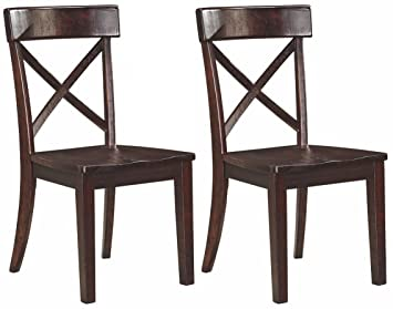 Beau Ashley Furniture Signature Design   Gerlane Dining Room Chair   Solid Pine  Wood Seating   Set