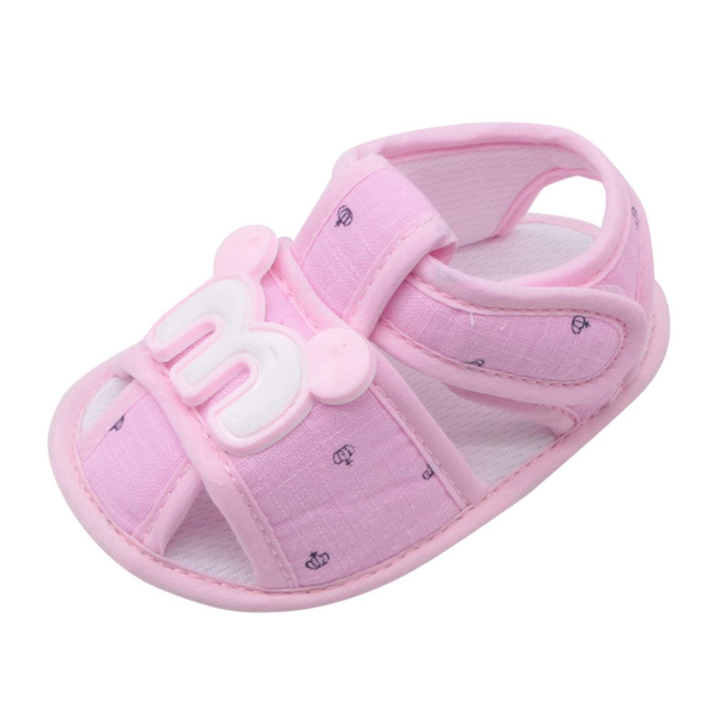 Lurryly Newborn Baby Girls Boys Cartoon Anti-Slip Footwear Crib Shoes Sandals 0-18 M