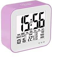 Réveil Numérique Programmable Réchargeable 3 Alarme Separée Horloge Digitale Rétro-Éclairage Grand Écran Affichage Température Calandrier Ideal pour votre Maison Bureau