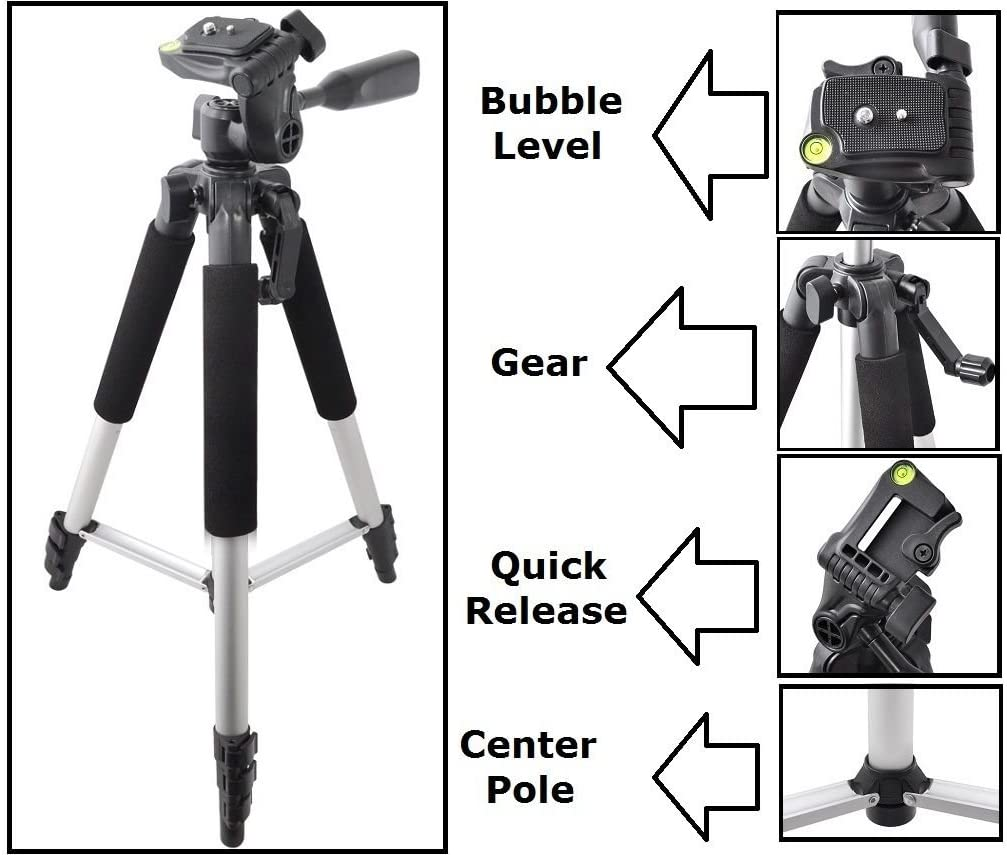 57 Pro Series New Tripod with Case for Nikon D3500