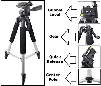 Video 50 Pro Tripod with Case for Nikon D3500 Compact Photo