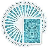 Modiano Plastic Texas Poker Jumbo Playing Cards Light Blue