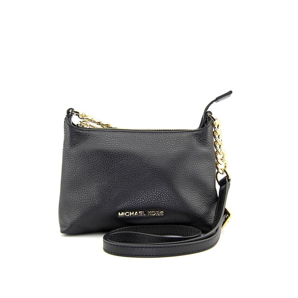 a576f275b13a Michael Kors Bedford Black Gold Crossbody Leather Hand Bag 32S4GBFC1L NEW   Handbags  Amazon.com