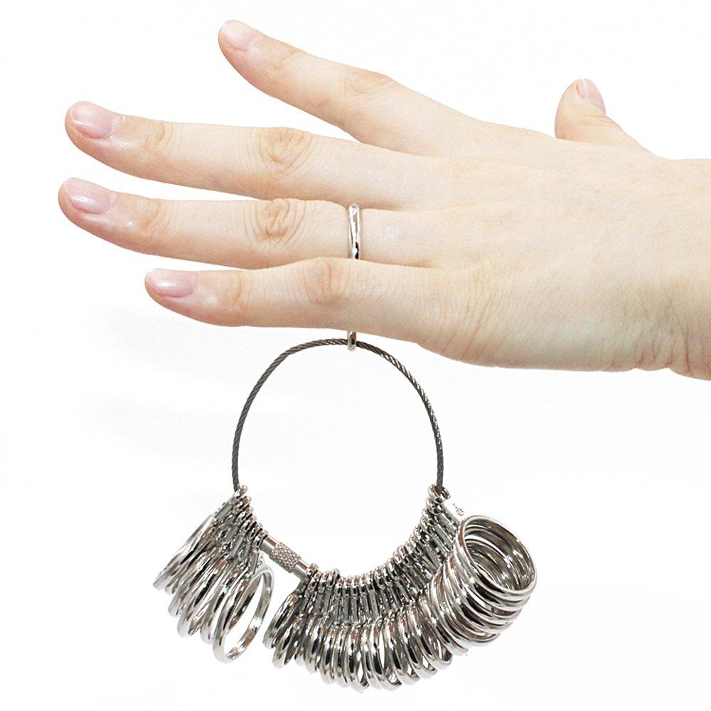 TRIXES Medidor de anillo dedo indicador joyer/ía Kit herramienta compromiso boda