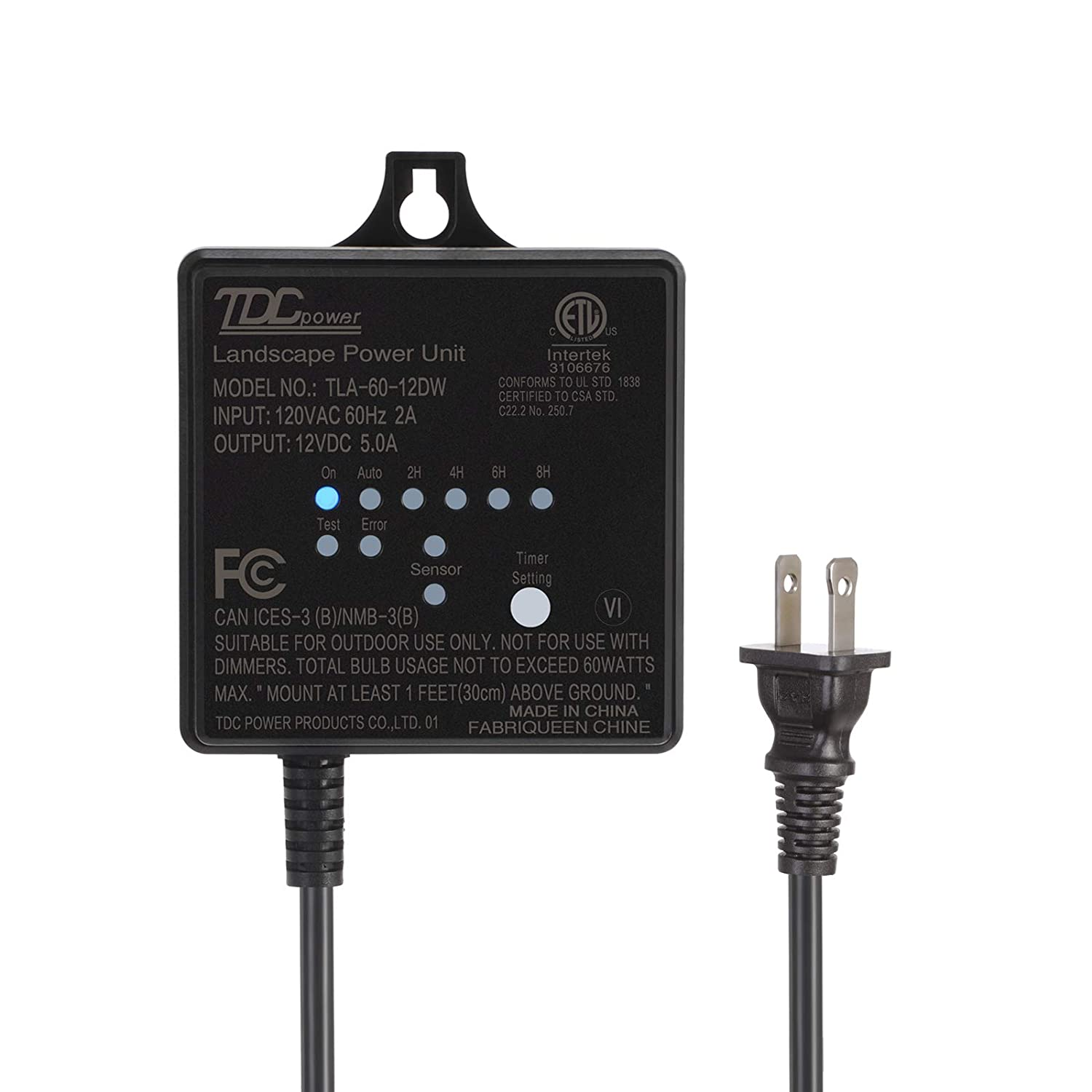dewenwils 60w outdoor low voltage transformer with timer and rh amazon com