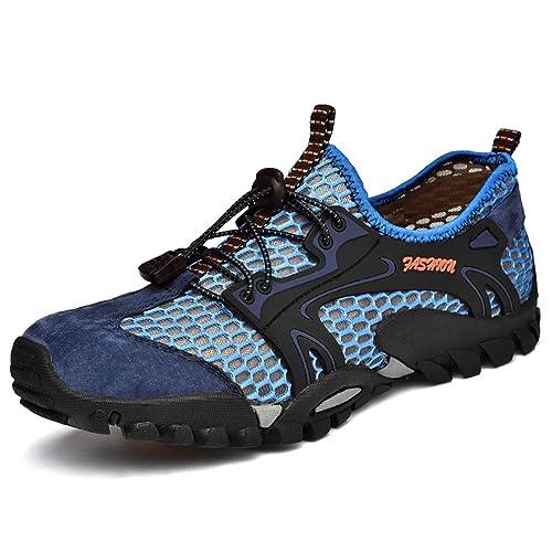 0479d33edad Flarut Sandalias Deportivas Trekking Hombres Verano Pescador Playa Zapatos  Casuales Transpirable Zapatilla de Senderismo Deportes Montaña