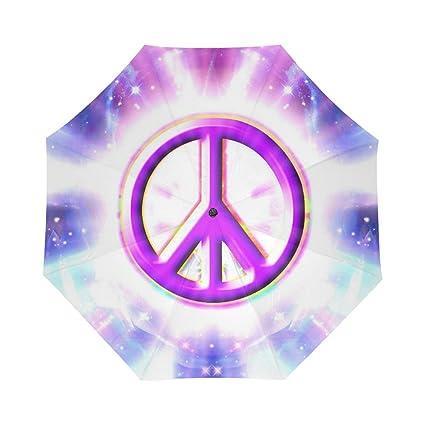 Amazon.com: Elegante símbolo de la paz barata paraguas de ...