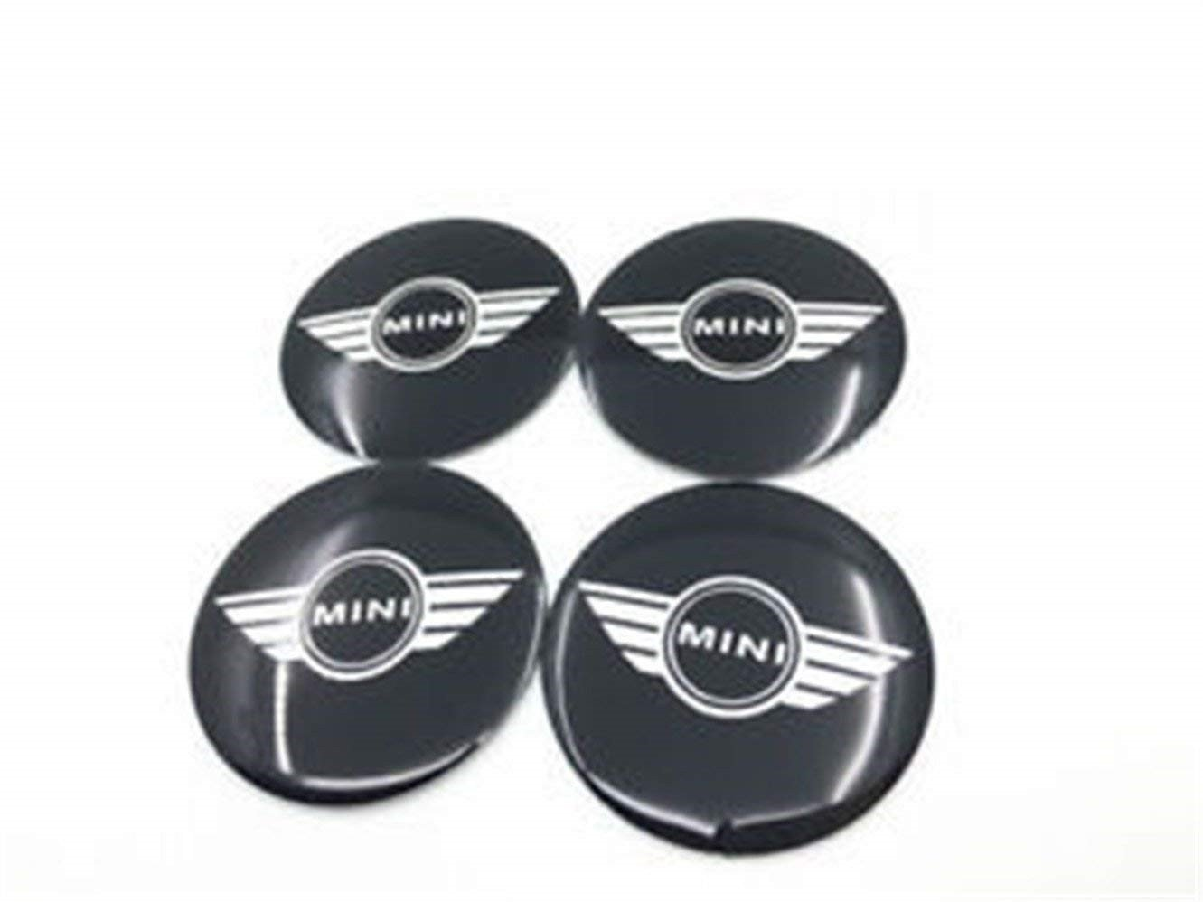 yongyong218/ 4pcs 56/ mm Car Auto Wheel Centre Hub Caps Trim Sticker Emblem Styling Mini Black