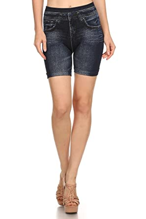Always Plus Size Jegging Shorts for Women - Everyday Denim Legging ...