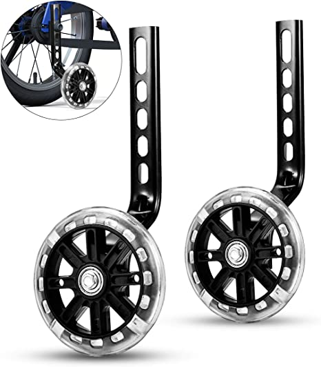 7E TRADING Bicycle Training Wheels Training Wheels for Kids Bike Bicycle Stabilizers Support Wheels for Bicycle Necessary Security and Stability
