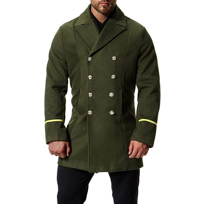 Amazon.com: Elegante traje para hombre, chaqueta larga con ...