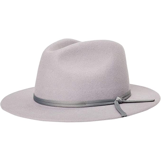 fc1e6127b Brixton Men's Coleman Medium Flat Brim Felt Fedora Hat at Amazon ...