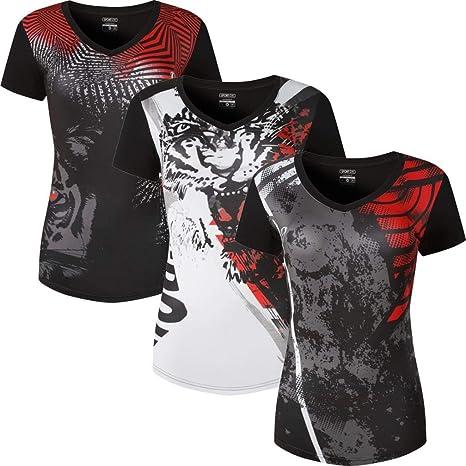jeansian Mujer Yoga Pilates Deportiva Workout Camisetas T ...