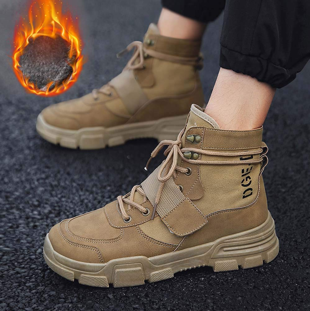 FGFKIJ Martin Stiefel, Winter Winter Winter Warm Ankle Stiefel, Men Outdoor Wanderschuhe Wasserdichte Safety Stiefel Work schuhe Anti-Lip-LWanderschuhe 1b5909