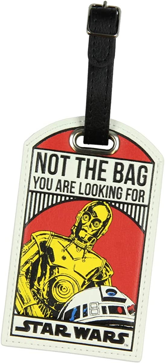 Star Wars Not The Bag You Are Looking For Droids C-3PO/R2-D2 Luggage Travel Tag: Clothing