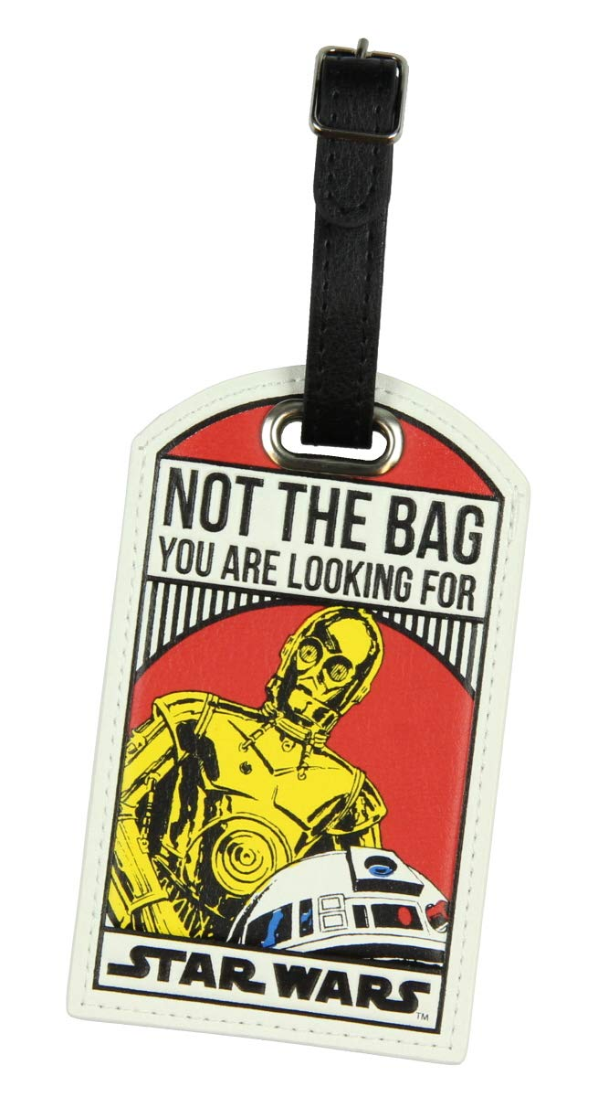 Star Wars Not The Bag You Are Looking For Droids C-3PO/R2-D2 Luggage Travel Tag by Bioworld