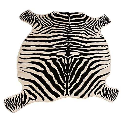 Jaye Zebra Print Rug 4.8x4.4 Feet Faux Zebra Hide Rug Animal Printed Rug Carpet for Home Office Kitchen. (Zebra)