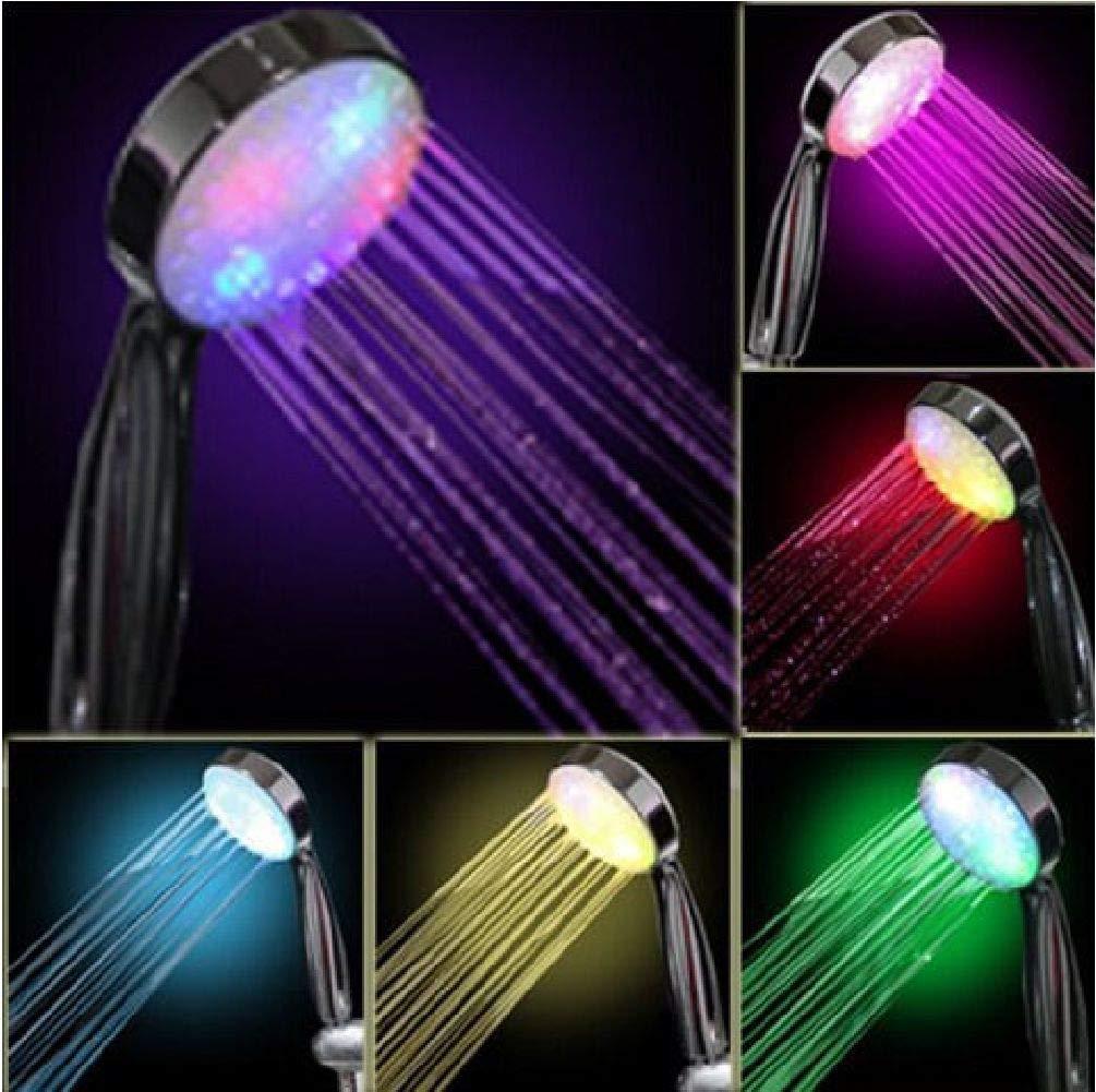 Handheld 7 Color LED Romantic Light Water Bath Home Bathroom Shower Head Glow //