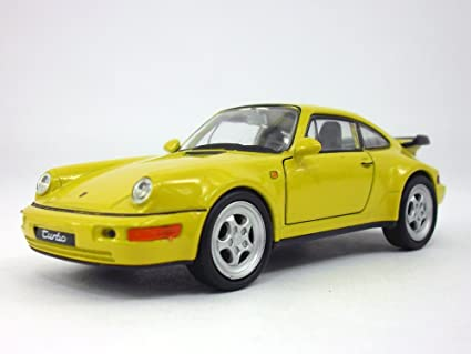 4.5 inch Porsche 911 / 964 Turbo Scale Diecast Model by Welly - Yellow