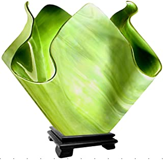 product image for Jezebel Radiance Large Flame Grass Green Vase Lamp