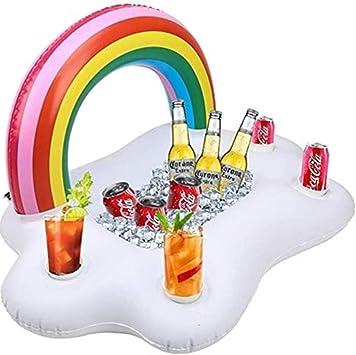 SKY TEARS Hinchable Portavasos Titular de Bebida Inflable para Bebidas Flotante Bar Verano Piscina Fiesta: Amazon.es: Juguetes y juegos
