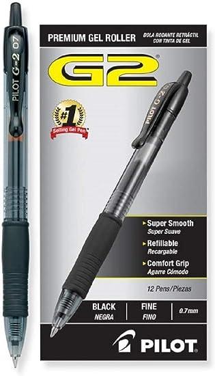 31020 12 Count PILOT G2 Premium Refillable /& Retractable Rolling Ball Gel Pens Black Ink 1 Pack Fine Point