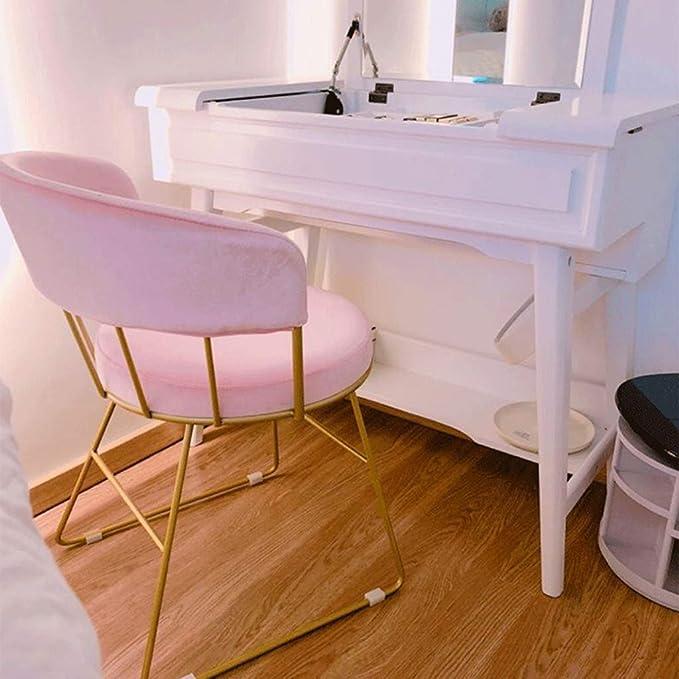 Amazon.com: Home warehouse - Silla de tocador rosa, para ...