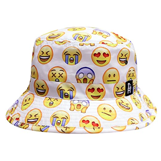 c9a3e09b652 Image Unavailable. Image not available for. Color  City Hunter Bd1250 Face  Emoji Bucket Hats ...