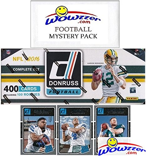 2016 Donruss NFL Football MASSIVE 400 Card Factory Set Loaded with SUPERSTARS & 100 ROOKIES Including Carson Wentz, Dak Prescott & More Plus Bonus Wowzzer Mystery Pack with AUTOGRAPH or MEMORABILIA