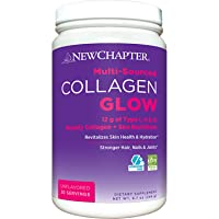 New Chapter Beauty Collagen Glow, 12g Collagen Peptides (Types I, Ii, Iii), Unflavored, 20 Servings, 8.7 Ounce