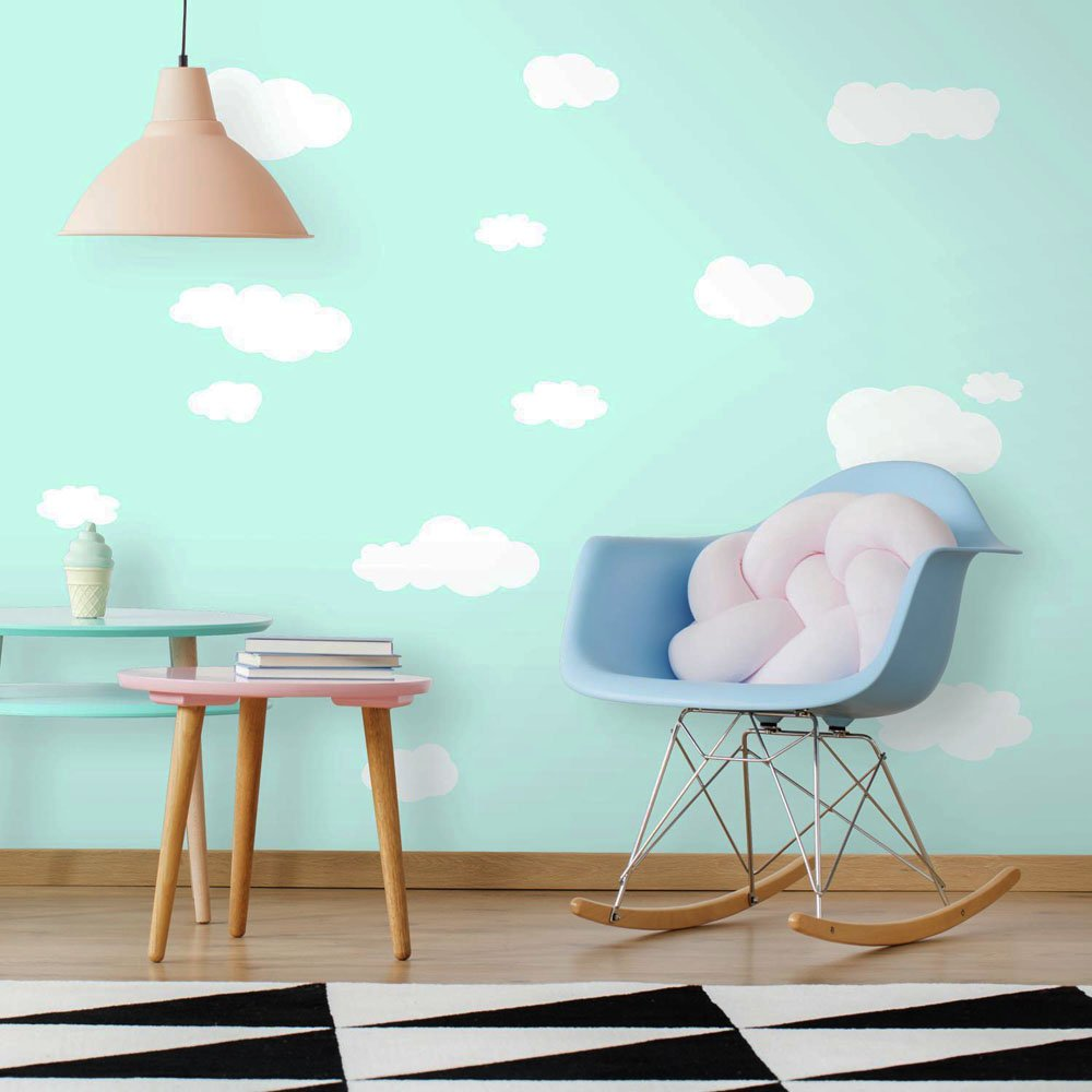 Roommates Rmk1562scs Clouds White Bkgnd Peel And Stick Wall Decals