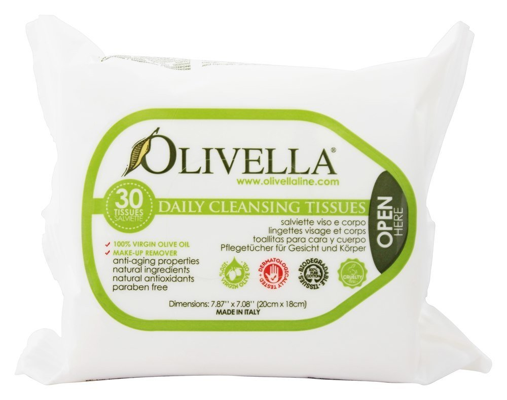 Olivella Daily Cleansing Tissues 30 ea (Pack of 3)