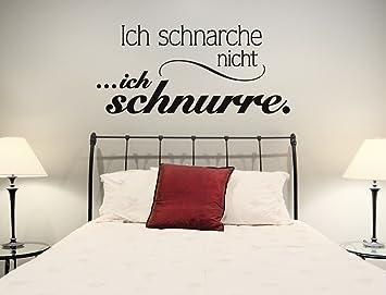 Wandtattoo Schlafzimmer Spruch lustig Ich schnarche nicht, ich ...