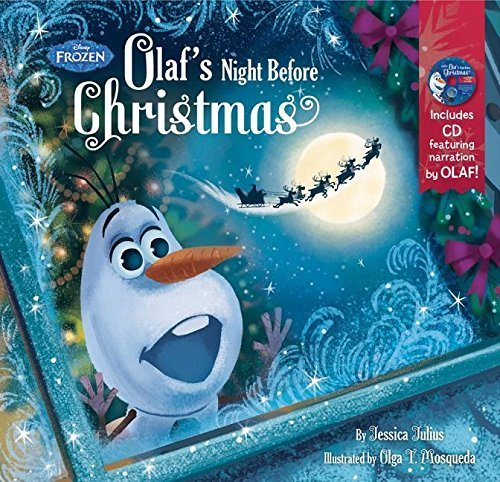 Frozen Olaf's Night Before Christmas Book & CD by Disney Book Group (September 15, 2015) Hardcover Olaf's Night Before Christmas