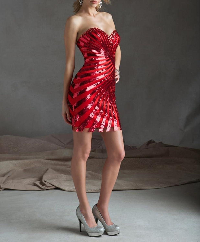 Dearta Women's Sheath/Column Sweetheart Short/Mini Chiffon Homecoming Dresses