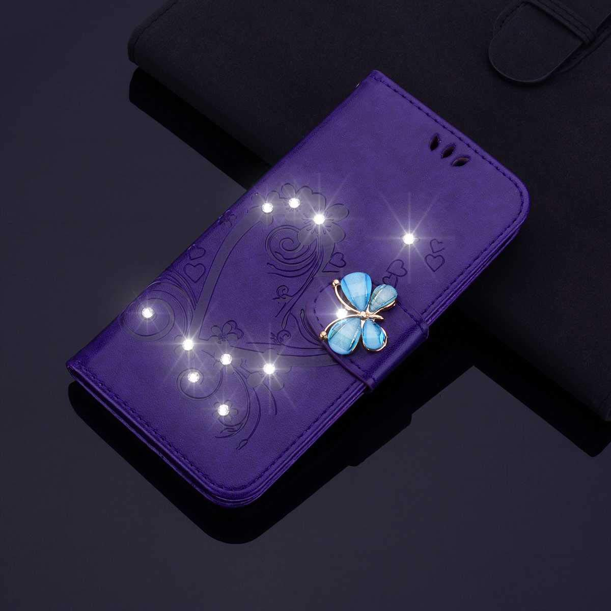 Blau Huawei P30 Lite H/ülle SONWO Premium Glitzer Strass Flip PU Leder Handyh/ülle mit Diamant Magnetverschluss und St/änder Funktion f/ür Huawei P30 Lite