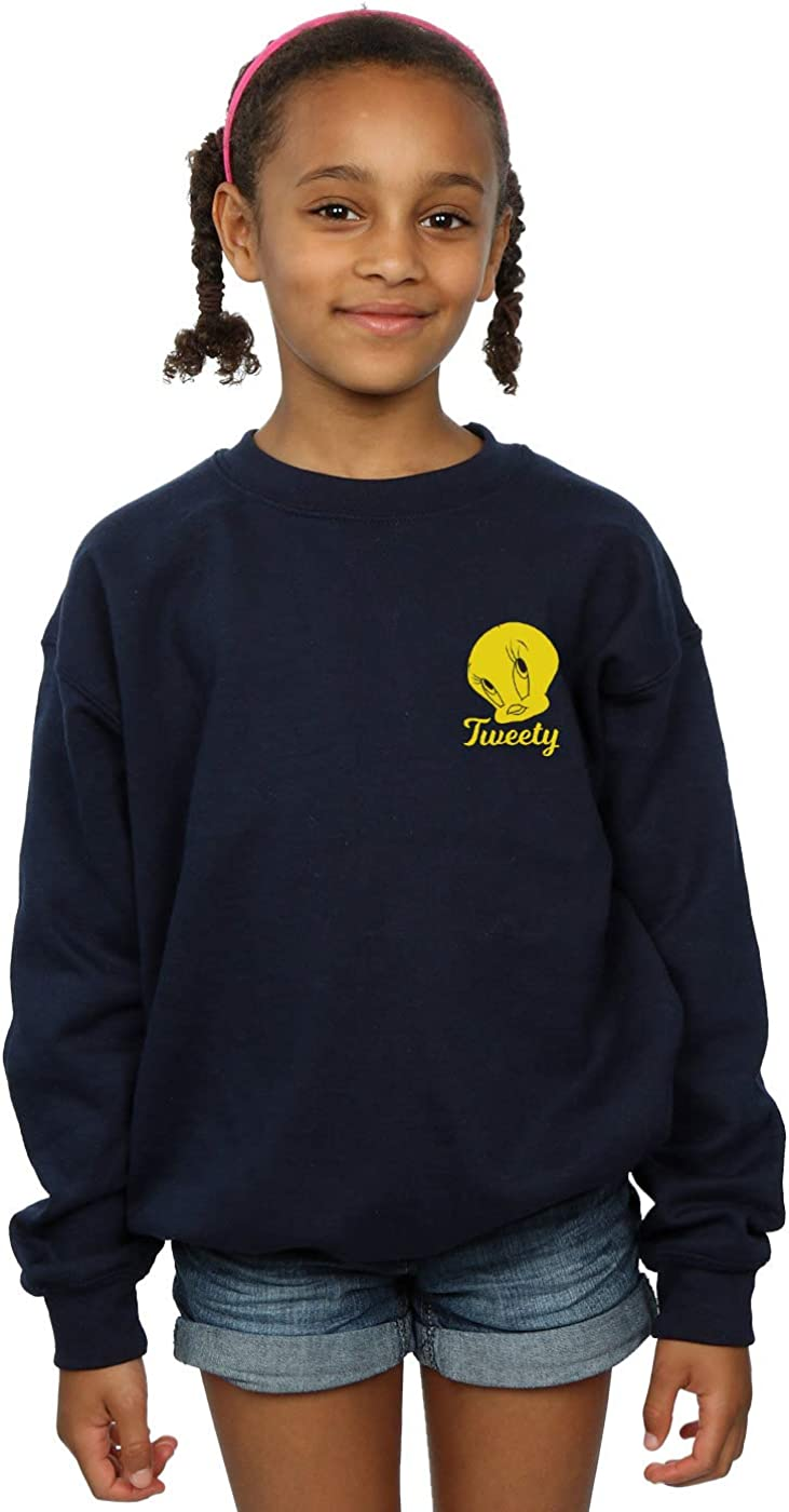 Looney Tunes Girls Tweety Pie Head Sweatshirt