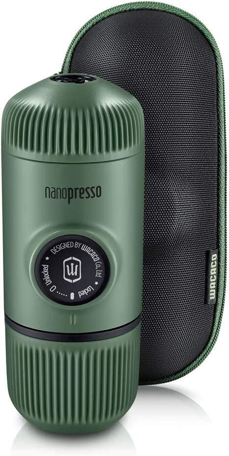 18 bar Portable Coffee Machine and 3-in-1 vacuum insulated flask Tumbler Perfect Small for Travel Camping Nanopresso Portable Espresso Maker Bundled with Nanovessel Black Manually Operated
