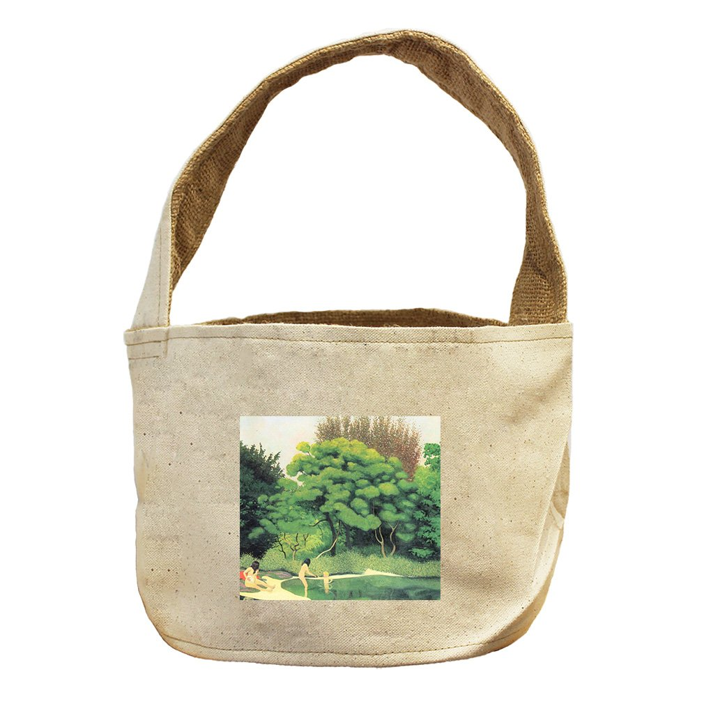 Style in Print Bathers In The Woods (Vallotton) Canvas and Burlap Storage Basket Basket