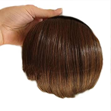 Amazon.com   Zehui Women Hair band Clip-on Bangs Front Fringe Headband  Hairpiece Wigs Light Brown   Headband With Hair Bang   Beauty ecbbe8260