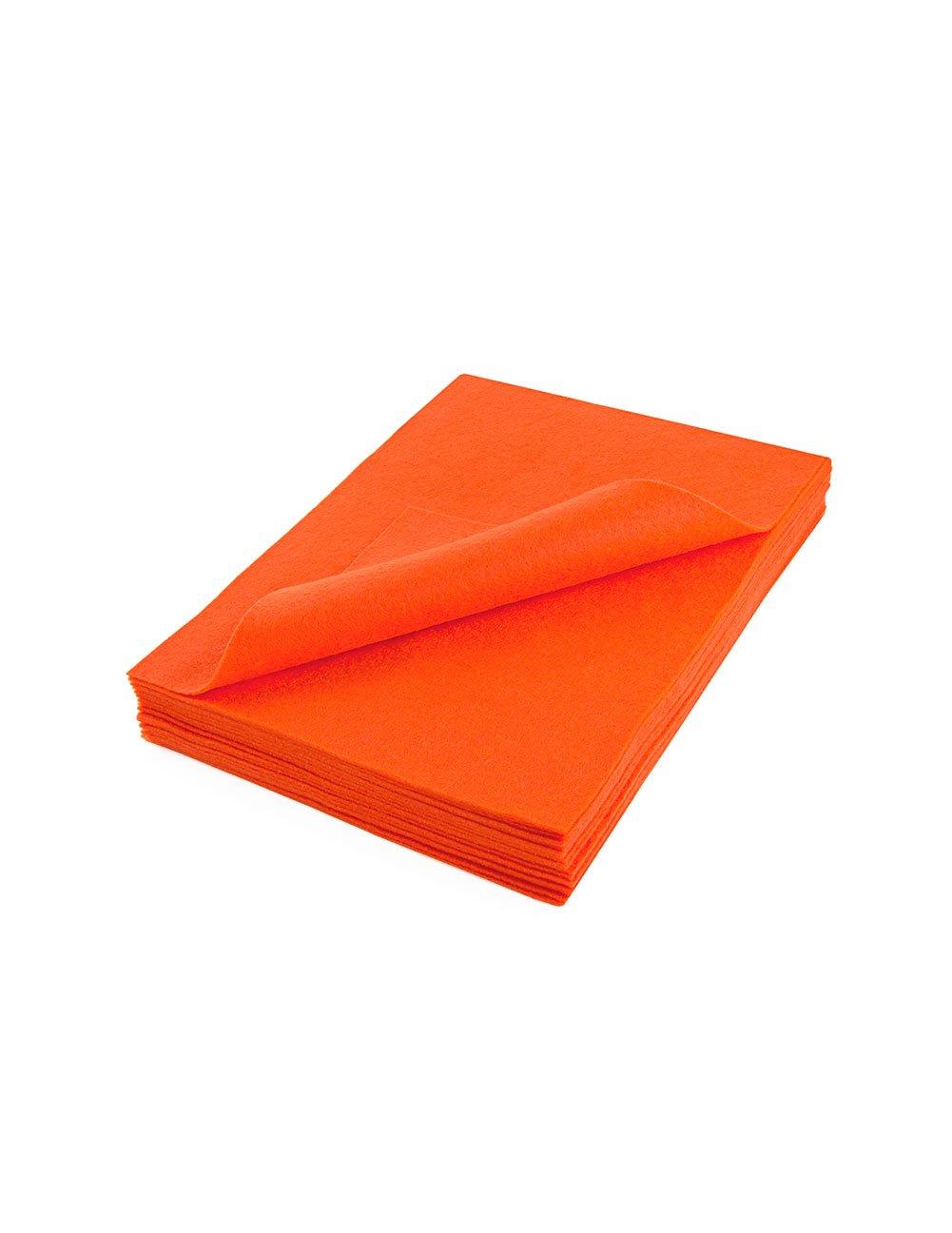 アクリル製フェルトシート 9 X 12インチ: 25個 オレンジ F-INVAF25PKA1031/ORANGE B004ZXXJBK オレンジ オレンジ