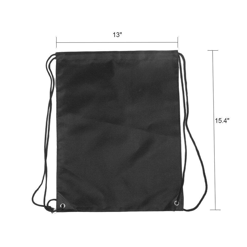 BINGONE Drawstring Bag Folding Backpack Storage Black by BINGONE (Image #2)