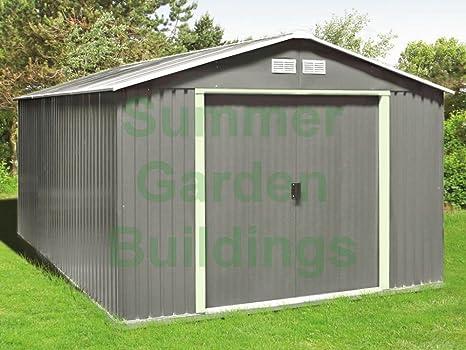 Cobertizo de Metal con Base de madera tratada a presión/suelo Kit – Garden,