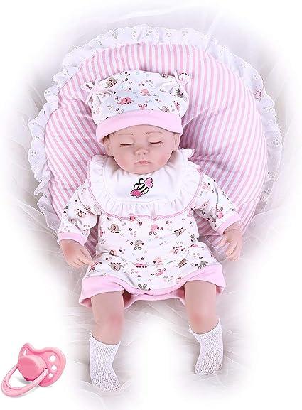 HYM 22/'/' Realistic Reborn Baby Doll Silicone Vinyl Handmade Newborn Girl Dolls