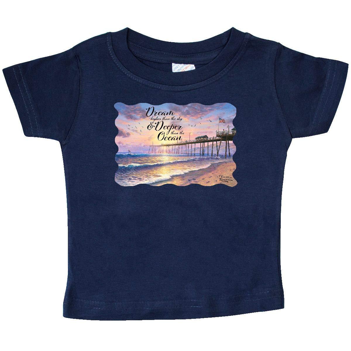 Thomas Kinkade inktastic Footprints in The Sand Baby T-Shirt