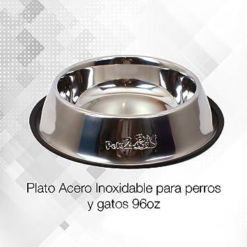 Pelu2 P77070 Plato de Acero Inoxidable para Perros y Gatos ddd5e235cab2