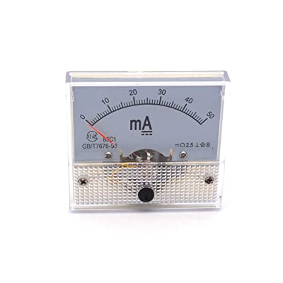 Antrader Ampere Panel Meter Class 2.5 Accuracy DC 0-50mA Analog Ammeter Gauge 85C1: Home Improvement