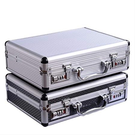 ACRDXF Caja De Herramientas De Contraseña Portátil Maleta Multifunción Caja De Almacenamiento Aleación De Aluminio Equipo De Instrumentos De Seguridad Caja con Esponja De Plata: Amazon.es: Hogar