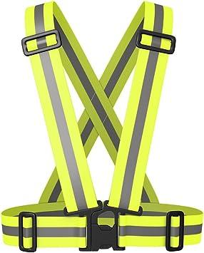 Chaleco de Seguridad Reflectante Ajustable Chaleco Reflectante Para Moto Bicicleta Correr Hacer Deportes en Exterior Para Fluorescente: Amazon.es: Deportes y aire libre