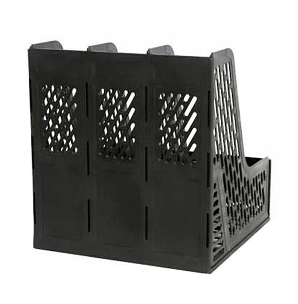 portadocumenti mobili e per larchiviazione e lorganizzazione dellufficio portariviste raccoglitore da scrivania 26*24*30 Blue LAAT per armadi in plastica scaffali a tre scomparti